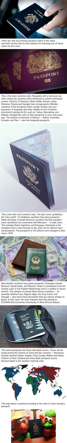 There are Only Four Passport Colors in the World, and This is the Reason Why - 9GAG