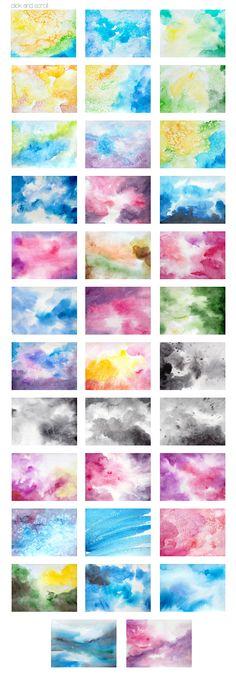 Watercolor backgrounds - Textures - 4