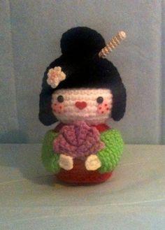 Amigurumi Geisha Tutorial : 1000+ images about Geisha poppetjes on Pinterest Kokeshi ...