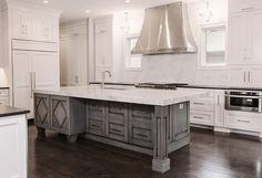 graywash kitchen island - Google Search