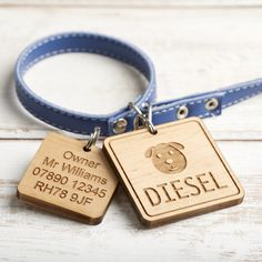 Personalised Wooden Pet ID Tag
