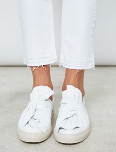 Ports 1961 Bow Sneakers  I just fell deeply in love with these white goatskin bow sneakers  from Ports 1961. Ports  was founded in ...