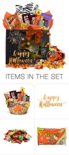 """""""Halloween Bag of Treats"""" by wanda-india-acosta ❤ liked on Polyvore featuring art"""