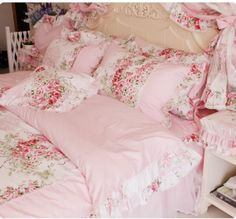 Victorian style bedding sets pink rose print bedding set the amazon fadfay home textile pink rose floral print duvet cover bedding set for mightylinksfo
