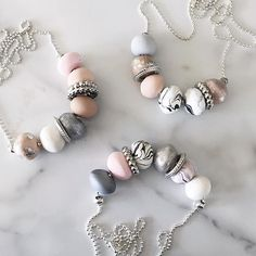The pops of silver sparkle in @caitieloudesigns polymer clay necklaces really take them up a notch. I wish I had one in my jewelry box!