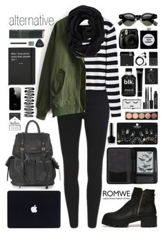 """Romwe 2"" by scarlett-morwenna ❤ liked on Polyvore featuring moda, Topshop, Cole Haan, Stila, Pop Beauty, Bobbi Brown Cosmetics, MAKE UP FOR EVER, Sennheiser, ASOS i Old Navy"