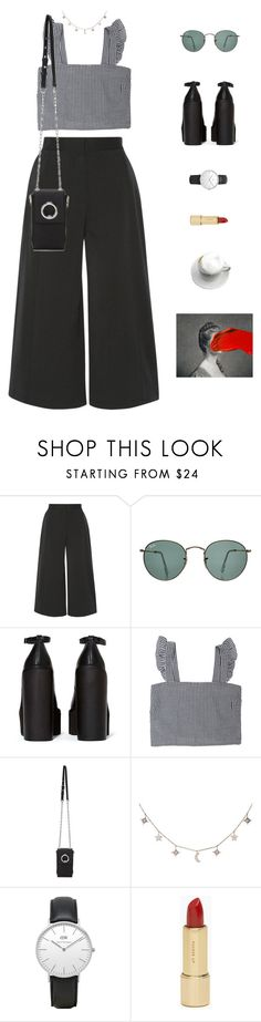 """""""Untitled #1034"""" by greciapaola ❤ liked on Polyvore featuring Proenza Schouler, Ray-Ban, Jeffrey Campbell, Alexander Wang, Luna Skye, Daniel Wellington and Kate Spade"""