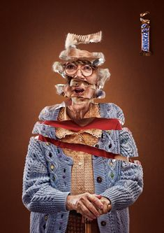 Snickers: Granny #advertising #print