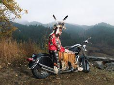 Native American biker