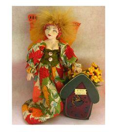 Kizzie Gardening Birdhouse Fairy Art Doll  http://cgi.ebay.com/ws/eBayISAPI.dll?ViewItem=150797212792