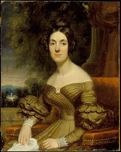 Frederick Randolph Spencer. Portrait of a Lady. Oil on panel. 1835. Los Angeles County Museum of Art.
