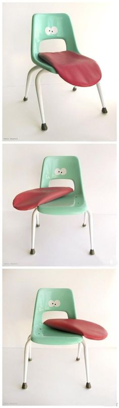 Children's chair. I can't help but giggle every time I see this.