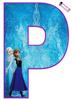 Frozen: Free Elsa and Ana Alphabet. Frozen: Bello Alfabeto Gratis de Elsa y Ana. Frozen Birthday Party, Frozen Tea Party, Frozen 1, Sofia The First Birthday Party, Disney Frozen Party, Birthday Party Themes, Frozen Free, Elsa, Diy Crafts For 5 Year Olds