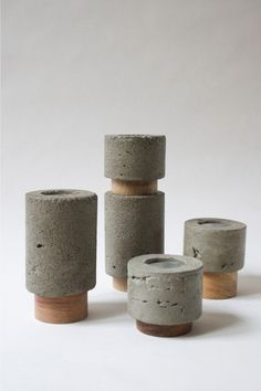 Dewi Concrete Candle Holder Set ... Now all I need is a loft to put them in.