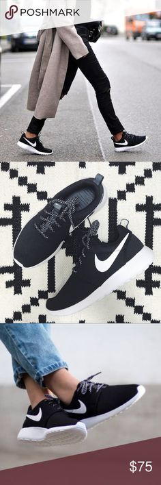 Nike Black + White Roshe One Sneakers •Black and white Roshe one sneakers  •Women's 7.5, true to size.  •New in box, no lid.  •No trades. No holds. Nike Shoes Sneakers