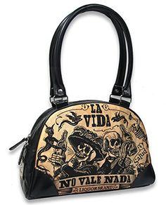 a9b1e5afa Liquor Brand - Bolso estilo bolera de Piel Lisa para mujer Negro negro  Bolsos Bandolera,