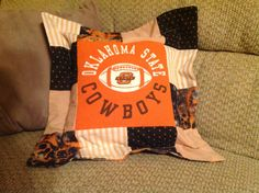 Oklahoma State Cowboys T-Shirt Pillow on Etsy, $22.00