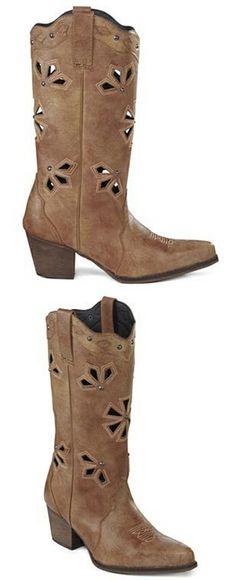 Cowgirl Boots with Cute Cutouts  fashion  boots  Fall  winter  cowboy   2964fb2db2