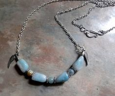 Lovely Amazonite Necklace by WolfMountainJewelry on Etsy, $13.00