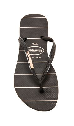 df610203ae81 Shop for Havaianas Slim Logo Metallic Fine Lines Flip Flop in Black at  REVOLVE.