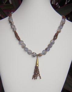 Natural Chalcedony in Matrix + Tiny Pearls