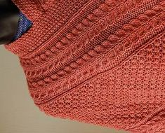 Irish Patterned Poncho -  Merino 5 Superwash  - free knitting pattern - Crystal Palace Yarns