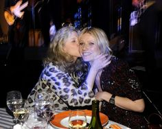 Pin for Later: 90+ Stars Being Sweet With Their Moms Gwyneth Paltrow Blythe Danner planted a kiss on daughter Gwyneth Paltrow during a charity event in NYC in 2008.