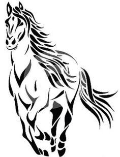 Illustration about Vector illustration of tribal running horse tattoo. Illustration of line, mustang, mammal - 26596431 Tribal Horse Tattoo, Horse Tattoos, Horse Outline, Horse Wall Decals, Arte Tribal, Temporary Tattoo Designs, Small Meaningful Tattoos, Running Horses, Horse Drawings