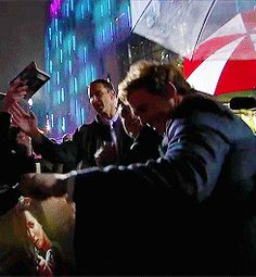 When he danced in the rain with Josh Hutcherson at the <i>Catching Fire</i> premiere.