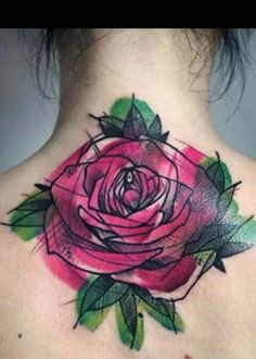 Trash/watercolour rose inspiration tattoo