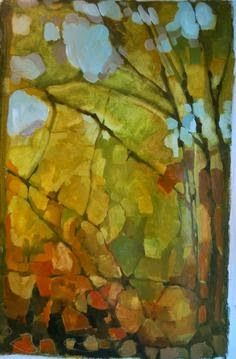 Olivia Pendergast (born in Florida; based in Seattle, WA) aka Holly Mae (Holly is her initial name). Abstract Landscape Painting, Landscape Art, Landscape Paintings, Abstract Art, Art Mural, Contemporary Landscape, Tree Art, Art Pictures, Painting & Drawing