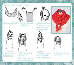 Tie One On! 6 Ways to Wear a Scarf. I always make this way more complicated than necessary...