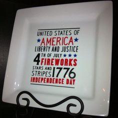 July 4th Decorative Serving Plate by jennimo on Etsy, $14.97