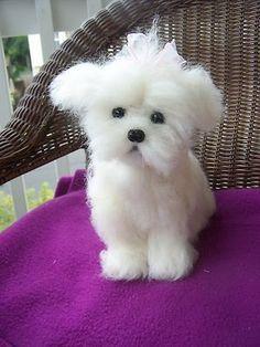 "my latest 9"" Maltese doggy on ebay now..suesdesigns"