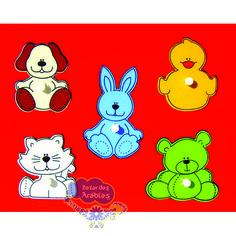 Quebra Cabeça Baby Bichos, Quebra Cabeça de Pinos de Madeira, Quebra Cabeça Pipoquinha, Brinquedos Pipoquinha, brinquedos educativos, brinquedos