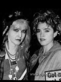 Cyndi Lauper and Madonna