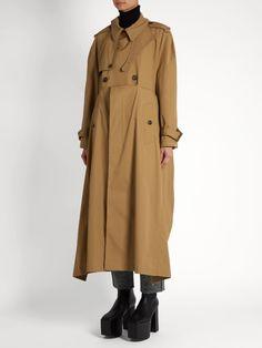 Balenciaga Double-breasted cotton-gabardine trench coat