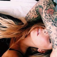 Pierced & Inked Piercings For Girls, Pierced Girls, Dreadlocks, Ear, Tattoos, Hair Styles, Beauty, Hair Plait Styles, Tatuajes