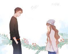 Anime Couples Drawings, Couple Drawings, Cute Anime Couples, Romantic Manga, Usui, Webtoon Comics, Aesthetic Themes, Anime Scenery, Romans