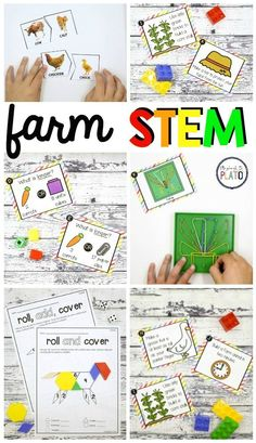 Farm STEM Activities These farm STEM challenges are a must-try! Students will love diving into measurement, engineering, number recognition, addition, shapes and problem solving. The set is perfect to use in STEM centers, math stations or as early finisher tasks. Perfect for preschool, kindergarten ,or first grade **Affiliate Link