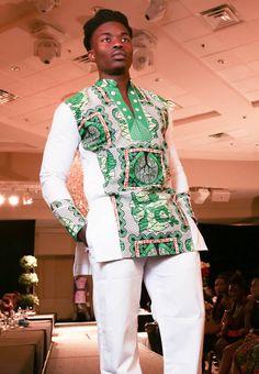 Trendy African inspired shirt design..