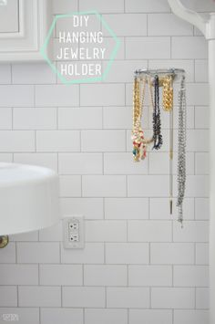 C: DIY hanging jewelry holder