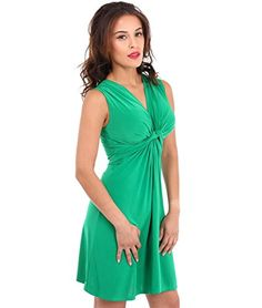 9354 Knot Front Mini Dress(Jade (PLAIN),4) KRISP http://www.amazon.com/dp/B00IHUZ6DG/ref=cm_sw_r_pi_dp_EH-twb0BDKXP1