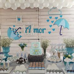 Cha do Otto Birthday Party Decorations, Birthday Parties, Baby Shower Niño, Baby Shower Welcome Sign, Rainbow Theme, Baby Boy Birthday, Party Accessories, Kids And Parenting, Birthdays