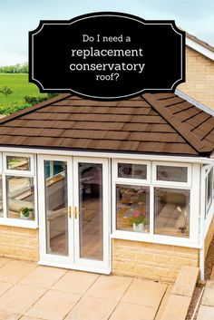 Is your conservatory roof looking a little tired? Is your conservatory too cold in winter, too hot in summer and unbearably noisy when it rains? If so, you would definitely benefit from a new, replacement roof. No need for structural work to the conservatory, the new tiled roof just replaces the ineffective plastic that's there currently. Get quotes from local and national conservatory roof companies today! #conservatory