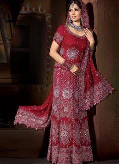 Stunning Red Lengha