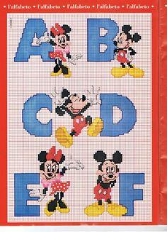 Alphabet Mickey 1
