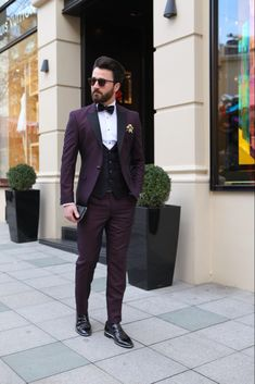 Claretred Slim Tuxedo Suit is part of Tuxedo suit Available Size 464850525456 Suit material wool, polyester Machine washable No Fitting slimfit Cutting double slits, cover pock - Prom Suits For Men, Mens Casual Suits, Dress Suits For Men, Mens Fashion Suits, Formal Suits, Suit For Men, Wedding Dresses Men Indian, Wedding Dress Men, Men Wedding Outfits