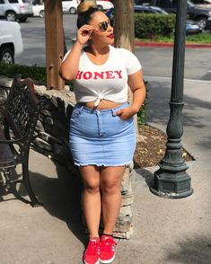 - messy bun getting stuff done💄 Chubby Fashion, Thick Girl Fashion, Curvy Girl Outfits, Plus Size Outfits, Plus Size Looks, Plus Size Fashionista, Casual Fall Outfits, Plus Size Swimwear, Fashion Outfits