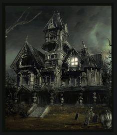 gifs+houses | haunted house animations photo: Haunted House HauntedH.gif